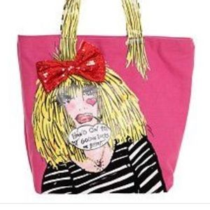 "BETSEY JOHNSON TOTE ""HANG ON TO MY GOLDILOCKS"""
